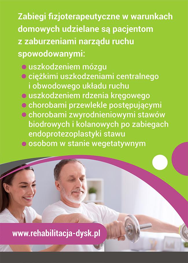 Ulotka rehabilitacja domowa w gminie Trzebownisko NFZ